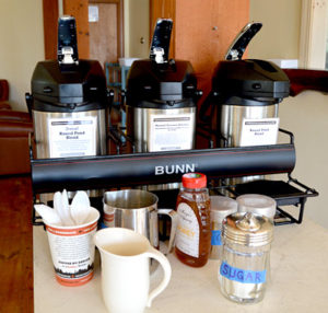 The coffee is all freshly ground with beans roasted in Portland by Coffee By Design. (Haley Bascom photo)