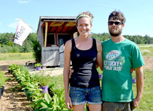 Meaghan and Ross Nichols sell produce and other products from High Hopes Farm at their farm stand. (Maia Zewert photo)
