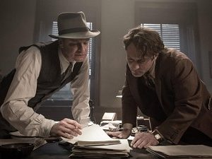 "Colin Firth and Jude Law in a scene from ""Genius,"" playing this week at The Harbor Theatre, Boothbay Harbor."