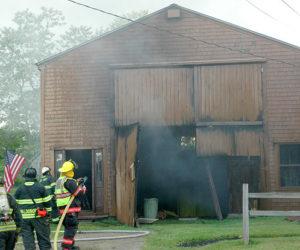 Fire Damages Waldoboro Boathouse