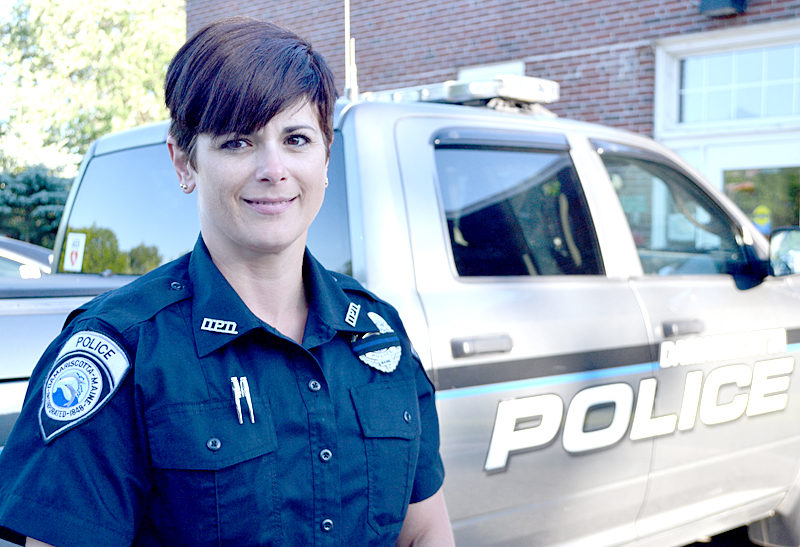 Amanda Hesseltine, of Washington, joined the Damariscotta Police Department as a part-time reserve officer in May. (Maia Zewert photo)