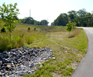 The parking area for Dresden's new boat ramp. The area was recently mowed and can now accomodate vehicles. (Abigail Adams photo)