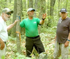 Alna and Jefferson Selectmen Walk Town Line