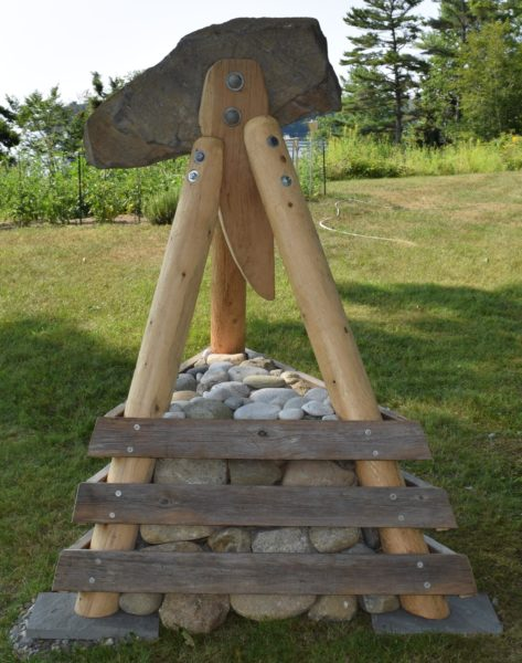 "The sculpture ""Art's Rig"" by South Bristol summer resident Peter Aalberg is a memorial to his late neighbor, Arthur R. Mardoian. (J.W. Oliver photo)"