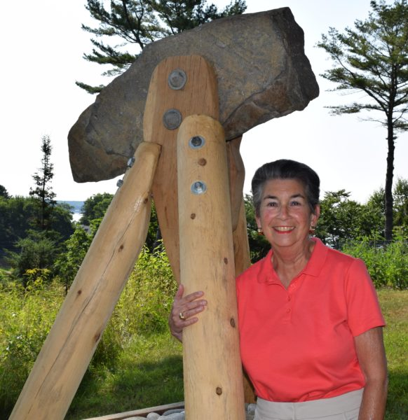 "Penny Mardoian with ""Art's Rig,"" a memorial to her husband of 51 years. (J.W. Oliver photo)"