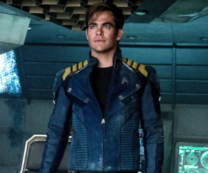 "Chris Pine in a scene from ""Star Trek Beyond,"" which premieres this week at The Harbor Theatre, Boothbay Harbor."
