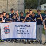Medomak 11&12 Baseball Wins District 2 Championship