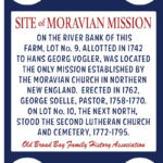 Moravian Mission Site Gets New Sign