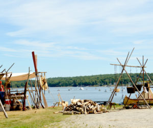 An annual 17th-century encampment took over the Colonial Pemaquid State Historic Site on Saturday and Sunday, July 30 and 31. (Haley Bascom photo)
