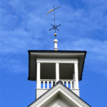 Restored Weather Vane Mounted on Washington School