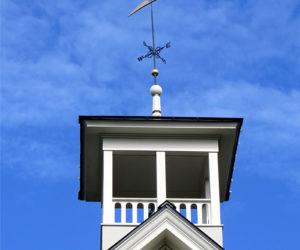 Restored Weather Vane Mounted on Washington School