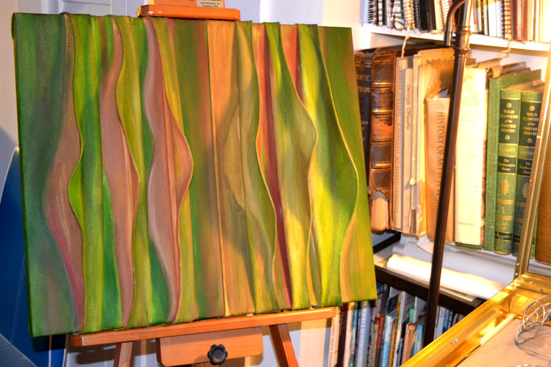 "The creative 3D paintings of Rosalind ""Roz"" Welsh were on display at Welsh's Damariscotta home-studio, Studio Roz, during the Aug. 19 Twin Villages ArtWalk. (Christine LaPado-Breglia photo)"