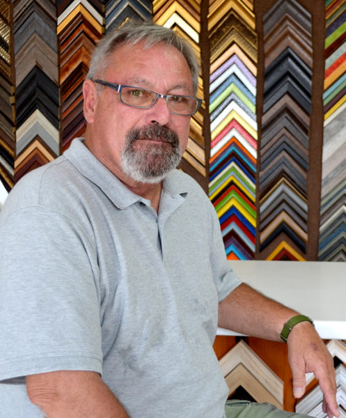 Fifteen years after opening Salt Bay Framers in Damariscotta, Brad Perry has decided to sell the business and begin semi-retirement. (Maia Zewert photo)