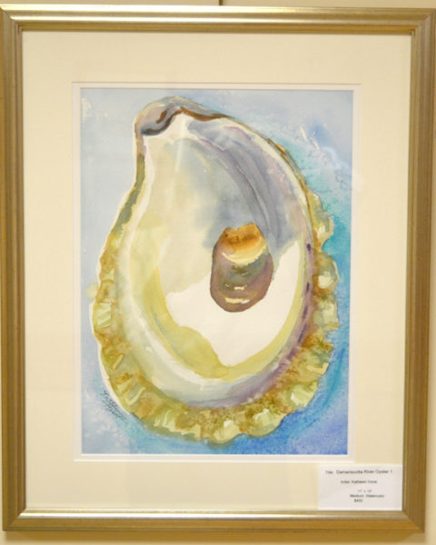 """Damariscotta River Oyster 1"" by Kathleen Horst. (Christine LaPado-Breglia photo)"