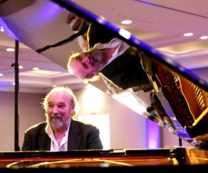 Bob Page at his piano. The Newcastle native and co-founder of the Jazz Babies now lives in Atlanta, but will return to the Twin Villages to celebrate the band's 40th anniversary with a concert at the Lincoln Theater in Damariscotta on Thursday, Aug. 18.