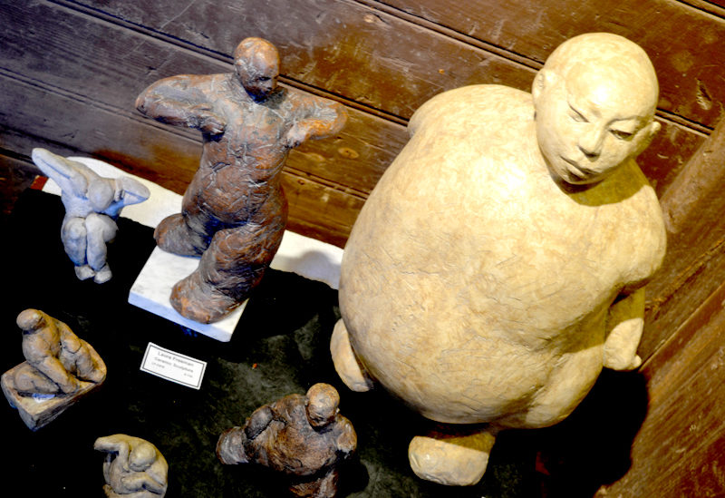 Rockport artist Laura Freeman's Buddha-like ceramic sculptures. (Christine LaPado-Breglia photo)