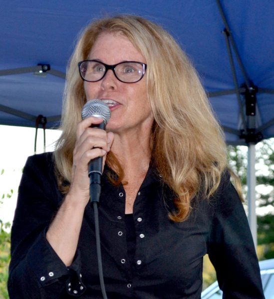 Maine Department of Health and Human Services Commissioner Mary Mayhew speaks during a Lincoln County Republican Committee fundraiser in Newcastle on Saturday, Aug. 20. (Maia Zewert photo)