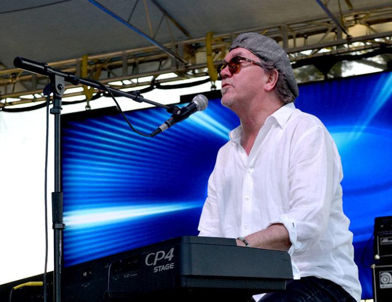 Nashville, Tenn.-based singer-songwriter John McAndrew performs at the Rockers in Recovery music festival. (Abigail Adams photo)