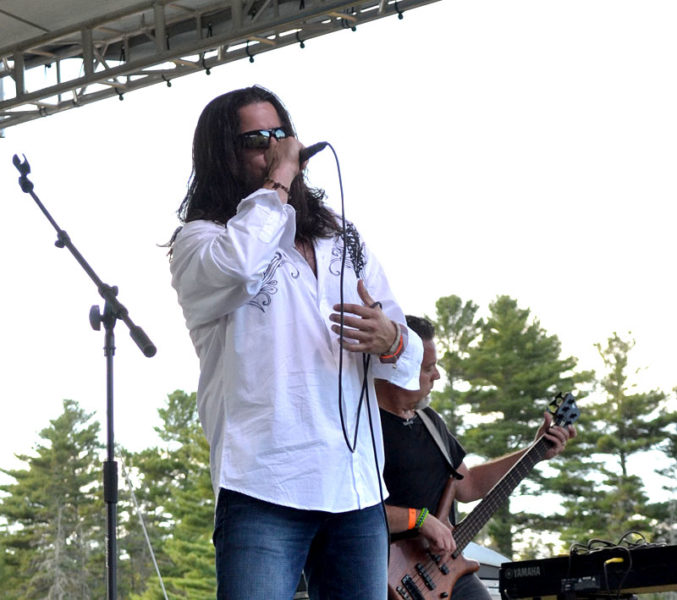 RC Budaka, of Waterville, performs at the Rockers in Recovery music festival. (Abigail Adams photo)