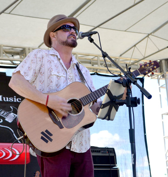 Jam Alker performs at the Rockers in Recovery music festival at Clark's Cove Farm in Walpole on Saturday, Aug. 27. (Abigail Adams photo)