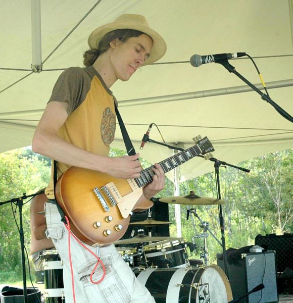 Guitarist Nik Hasenfus performs with Hours North at the fourth annual Locavore Music Festival. (Alexander Violo photo)