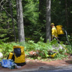 Local Departments Fight Brush Fire in Wiscasset
