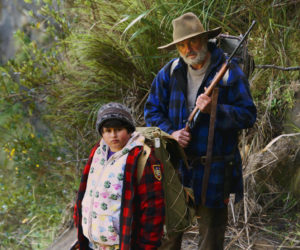 "Julian Dennison (left) and Sam Neill in ""Hunt for the Wilderpeople."""