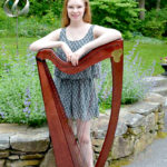 Celtic Harpist in Damariscotta