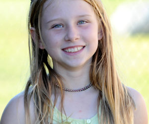 Nine-year-old Scarlett Flint has won the Rockland Lobster Festival lobster crate races for three straight years. It is estimated she has run over 6.2 miles on lobster crates in the three years of competition. (Paula Roberts photo)