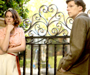 """Kristen Stewart and Jesse Eisenberg in a scene from Woody Allen's """"Cafe Society,"""" playing this week at The Harbor Theatre, Boothbay Harbor."""