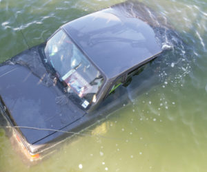 Car Goes into Water in Bristol