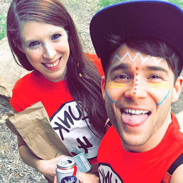 "Zachary Miller (left) and his friend Elizabeth Baker were contacted by the MTV reality series ""Catfish"" after photos of Miller from his social media accounts were used to create a fake profile. ""Catfish"" hosts Nev Schulman and Max Joseph reached out to Miller and Baker after seeing this photo on Miller's Instagram account. (Photo courtesy Zac Miller)"