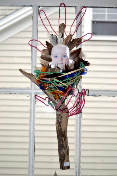 """Earth Nest,"" a multimedia piece by Damariscotta environmental artist Marnie Sinclair. (Christine LaPado-Breglia photo)"