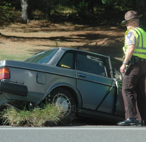 Deputies from the Lincoln County Sheriff's Office responded to the scene of a car versus pole accident on Route 17 in Jefferson during the afternoon of Wednesday, Sept. 21. (Alexander Violo photo)