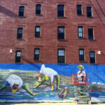 Walpole Artist Brings Giant Clammers to Life Outside Portland Bar