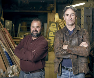 """Frank Fritz (left) and Mike Wolfe, of the popular History channel show """"American Pickers,"""" which is coming to Maine in October."""
