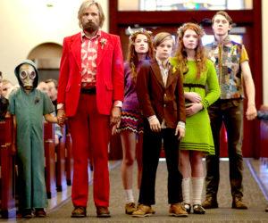 """Actor Viggo Mortensen and his on-screen family in """"Captain Fantastic."""""""