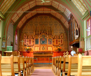 The interior of St. Andrew's Episcopal Church in Newcastle.