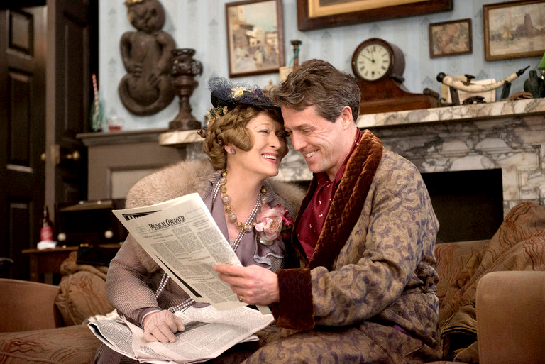 """Meryl Streep and Hugh Grant star in """"Florence Foster Jenkins,"""" PG-13,  playing this week at The Harbor Theatre, Boothbay Harbor."""