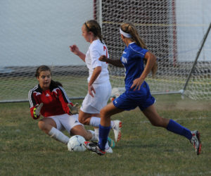 """<span class=""""entry-title-primary"""">Madison clips the Wolverines</span> <span class=""""entry-subtitle"""">Madison girls 3 - Wiscasset 0</span>"""