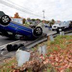 Subaru Rolls Over at Damariscotta Intersection
