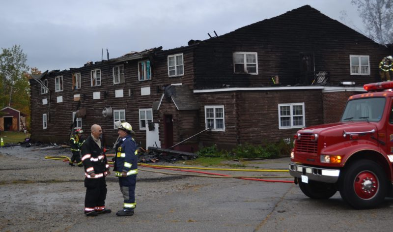 13 people were displaced following a fire that consumed a transitional housing center in Dresden the early morning of Sunday, Oct. 2. (Abigail Adams photo)