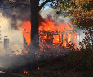 Fire Consumes Shed in North Newcastle, Cause Unknown
