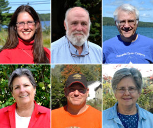 The Lincoln County News will host its second and final candidates forum of 2016 at Skidompha Library in Damariscotta at 6 p.m., Thursday, Oct. 13. The forum will feature the candidates for Senate District 13 and House Districts 88, 90, and 91. Top from left: Rep. Deb Sanderson, Jim Torbert, and Rep. Mick Devin. Bottom from left: Robin Mayer, Abden Simmons, and Dr. Emily Trask-Eaton. Not pictured: Sen. Chris Johnson and Dana Dow. (LCN file photos)