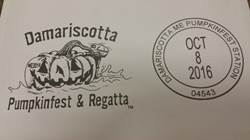 The United States Postal Service in Damariscotta will offer a souvenir Damariscotta Pumpkinfest and Regatta postmark from 9:30 a.m. to noon, Saturday, Oct. 10.