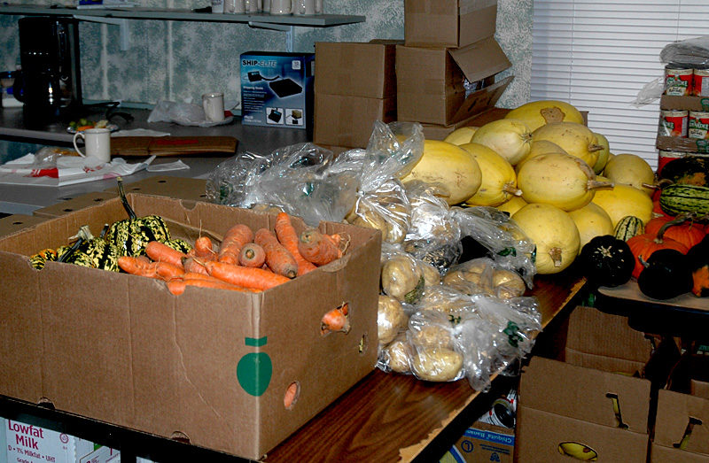 Some of the fresh produce available at the Waldoboro Food Pantry. (Alexander Violo photo)