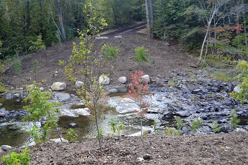 The site of the former Northy Bridge on Howe Road in Whitefield on Wednesday, Sept. 28. The bridge was removed earlier in the week. (Abigail Adams photo)