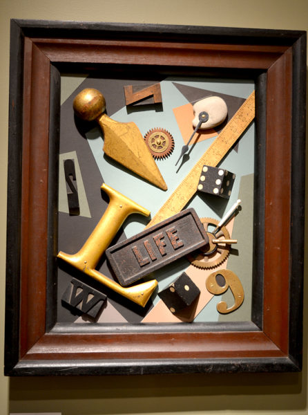 "John Sideli's mixed-media assemblage piece ""Lifeline."" (Christine LaPado-Breglia photo)"