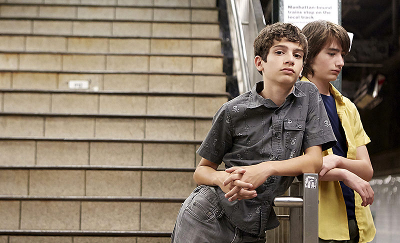 "Michael Barbieri (left) and Theo Taplitz in ""Little Men."""