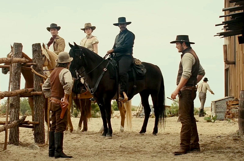 "Denzel Washington stars in ""The Magnificent Seven,"" PG-13, this week at The Harbor Theatre, Boothbay Harbor."